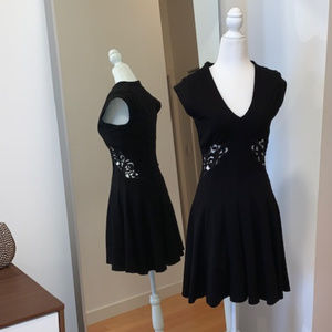 French Connection Fit & Flare Little Black Dress